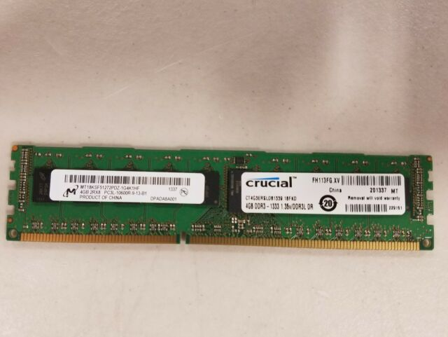 Crucial Pc3 10600 4 Gb Ddr3 1333 Mhz Ddr3 Sdram Memory