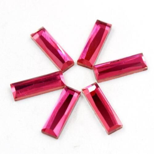 Rectángulo 1Bag diamantes de imitación de cristal de reverso plano 5x10//5x15mm Hágalo usted mismo Craft hallazgos