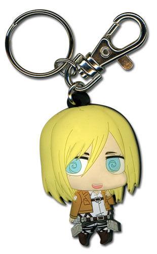 **Legit** Attack on Titan Authentic Anime PVC Keychain Historia Christa #36915