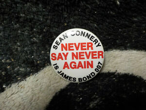 Vintage 007 The World is Not Enough Movie Advertising Pinback Button
