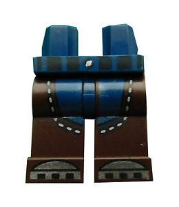 Lego-Beine-dunkelbraun-dunkelblau-fuer-Minifigur-970c120pb10-Hosen-Basics-Neu