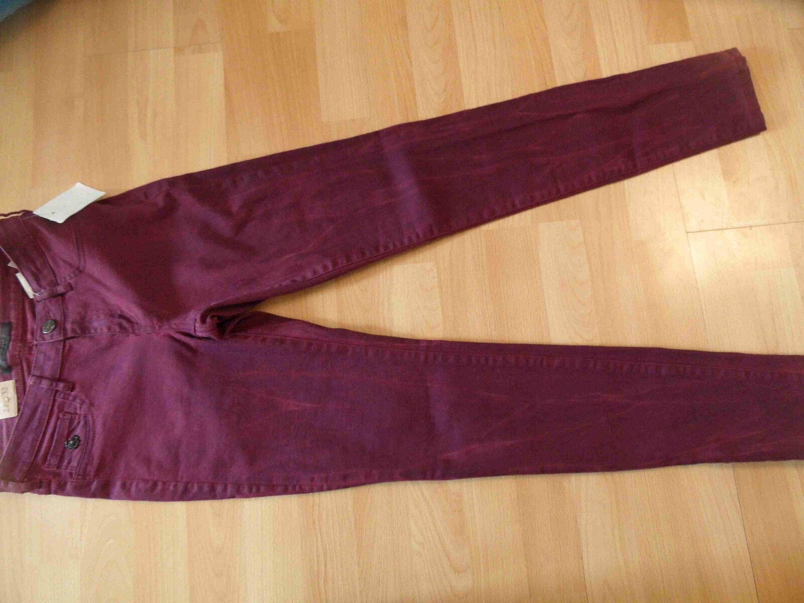 MAISON SCOTCH coole Jeans la voyage bordeaux Gr. 27 32 NEU 216