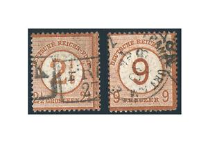 Empire-Allemand-Empire-Brustschilde-1874-Michel-Nr-29-30-Timbres