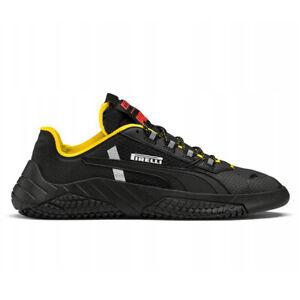 PUMA Men's Replicat x Pirelli Puma Black/Cyber Yellow Sneakers 33985501 NEW!