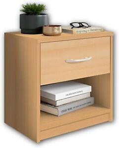 Mobile Comodino in legno cassetto Buche Faggio, Elegante arredo per la camera