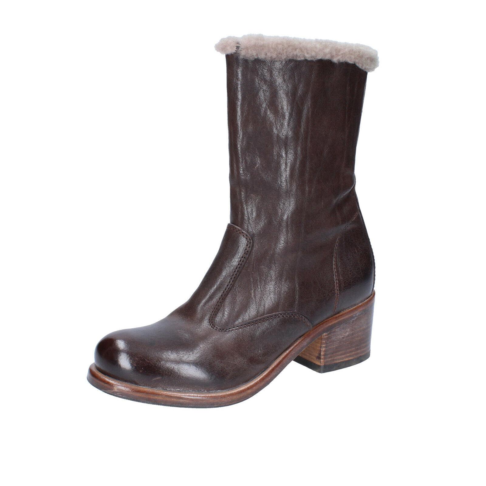 prodotti creativi Scarpe Scarpe Scarpe donna MOMA 37 EU stivaletti Marronee pelle BS432-37  sconto prezzo basso