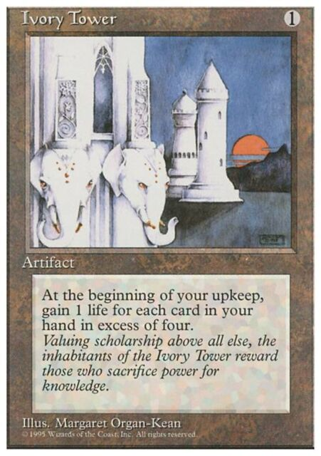 TORRE D'AVORIO - IVORY TOWER Magic 4ED Mint
