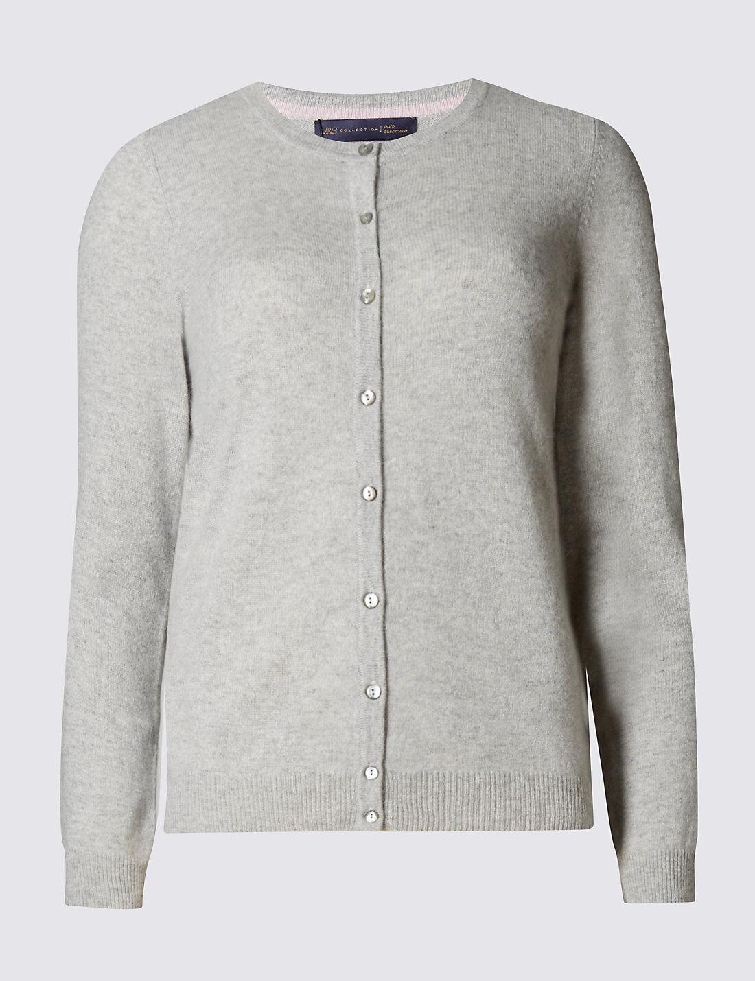 Pure cashmere grey M&S size 12 cardigan BNWT