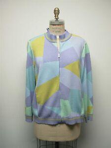 Jacket St Størrelse Pastel Xl Sweater Blok John Front Farve Zip Sport Abstrakt Strik PPCqzrw