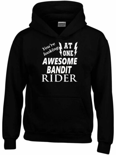 Fantastico BANDIT Rider Felpa Con Cappuccio Biker Personalizzato Divertente Regalo Ideale
