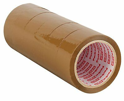 Packaging Tape For Parcel And Boxes 6 Rolls Brown Color