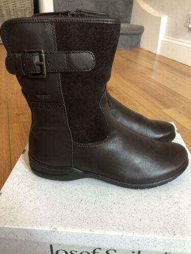 5 New pelle Fabienne alla caviglia Uk in con Seibel in Brand Josef cinturino marrone 38 Donna pelle 45 aU11Sw