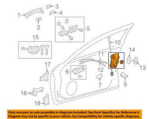 Toyota Oem Front Door Lock Actuator Motor 6904053130 Ebay