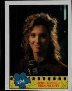 1990 Topps Teenage Mutant Ninja Card 124 April O Neil Signing Off Ebay