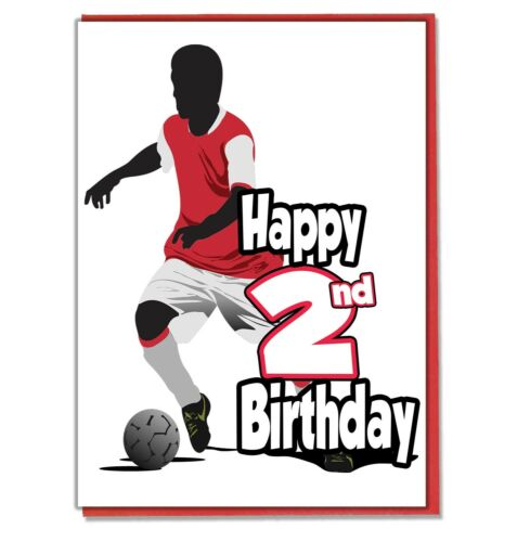 Brother Football Silhouette 2nd Birthday Card Boys Son Friend Grandson