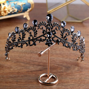 BGSPZ-Luxury-Vintage-Black-Crown-Wedding-Tiara-Headband-Bridal-Hair-Accessories