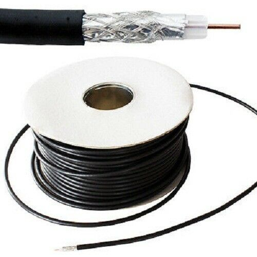 75 ohm Wire Reel Drum For CCTV Video 121AV 100m RG59 Black Coaxial Cable