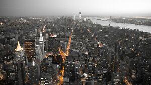Ciudad de Nueva York Skyline Negro y Blanco Póster Grande de decoración del hogar y Lona Fotos