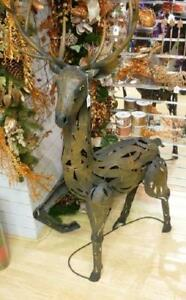 Large-Metal-138cm-Standing-Metal-Reindeer-Figure-Christmas-Decoration