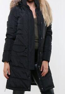 Women-039-s-Winter-Jacket-Quilted-Jacket-fur-Hooded-Coat-down-Optics-Long-33252