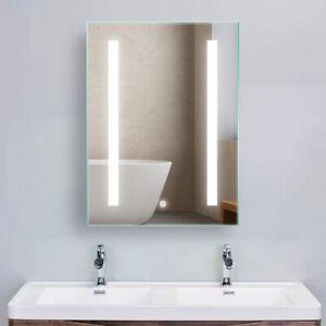 LED Lighted Bathroom Makeup Wall-Mounted Mirror Anti-Fog ...