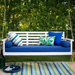 Image Is Loading Wood Porch Swing Patio Sofa Couch Deck Bed