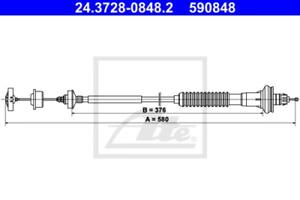 Kupplungsbetätigung für Kupplung ATE 24.3728-0848.2 Seilzug