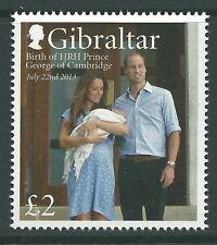 Gibraltar 2013 - Birth of HRH Prince George of Cambridge Royal Baby - MNH