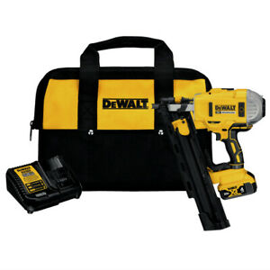 DeWalt-20V-MAX-21-Deg-Framing-Nailer-Kit-4-Ah-DCN21PLM1R-Certified-Refurbished