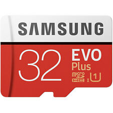 Samsung 32GB Evo Plus Micro SD SDXC TF Memory Card + Adapter 95MB/s New UK