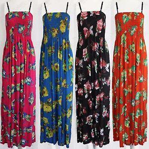NEW-WOMENS-FLORAL-PRINT-MAXI-DRESS-STRAPPY-BANDEAU-LONG-LADIES-BOOBTUBE-LONG-TOP