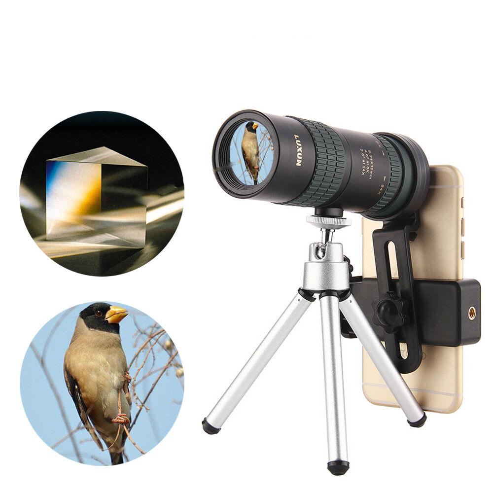 8-24x30 Zoom Monocular BAK4 Optic Lens Telescope For Outdoor Travel Phone Sh