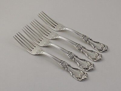 """No Mono QTY 4 Burgundy by Reed /& Barton Sterling Silver 6 1//2"""" Salad Forks"""