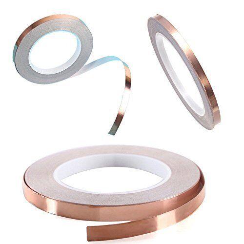 Copper Foil Tape avec CONDUCTEUR ADHÉSIF (10 mm x 30 m) - EMI shielding Conductive
