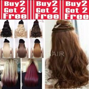 Real-Cheap-Hair-Extensions-Clip-In-1PC-Half-Head-Long-18-034-24-034-28-034-Blondes-Browns