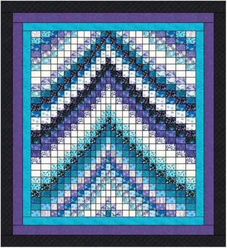Quilt Kit Twilight Reflections Bargello Strip Quilt Benartex Pearl Reflections F