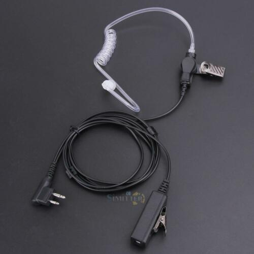 For Motorola Two Way Radios 2 Pin Covert Acoustic Tube Earpiece Headset Mic New
