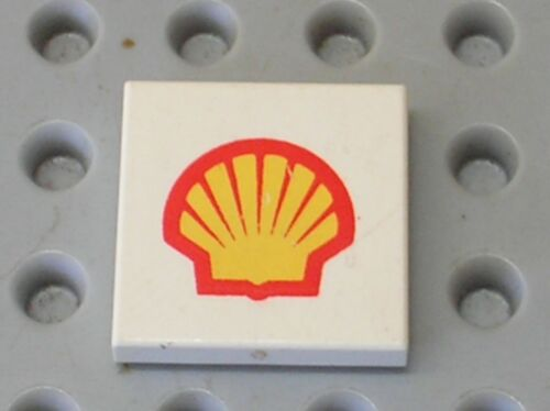 Set 6394 6503 LEGO Tile 2 x 2 with Shell Logo Pattern 3068bp60