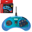 Retro-Bit-Official-Sega-Genesis-Controller-6-Button-Arcade-Pad-Clear-Blue miniature 1
