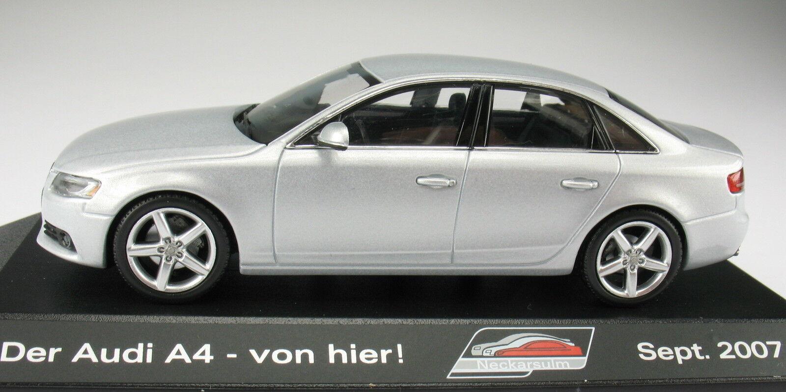 Minichamps-audi a4-plata metálica colección Neckarsulm 2007 - 1 43