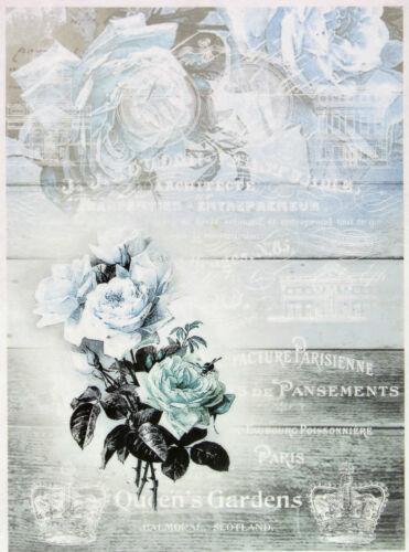 Craft Quens/'s Garden Rice Paper for Decoupage Scrapbook Sheet