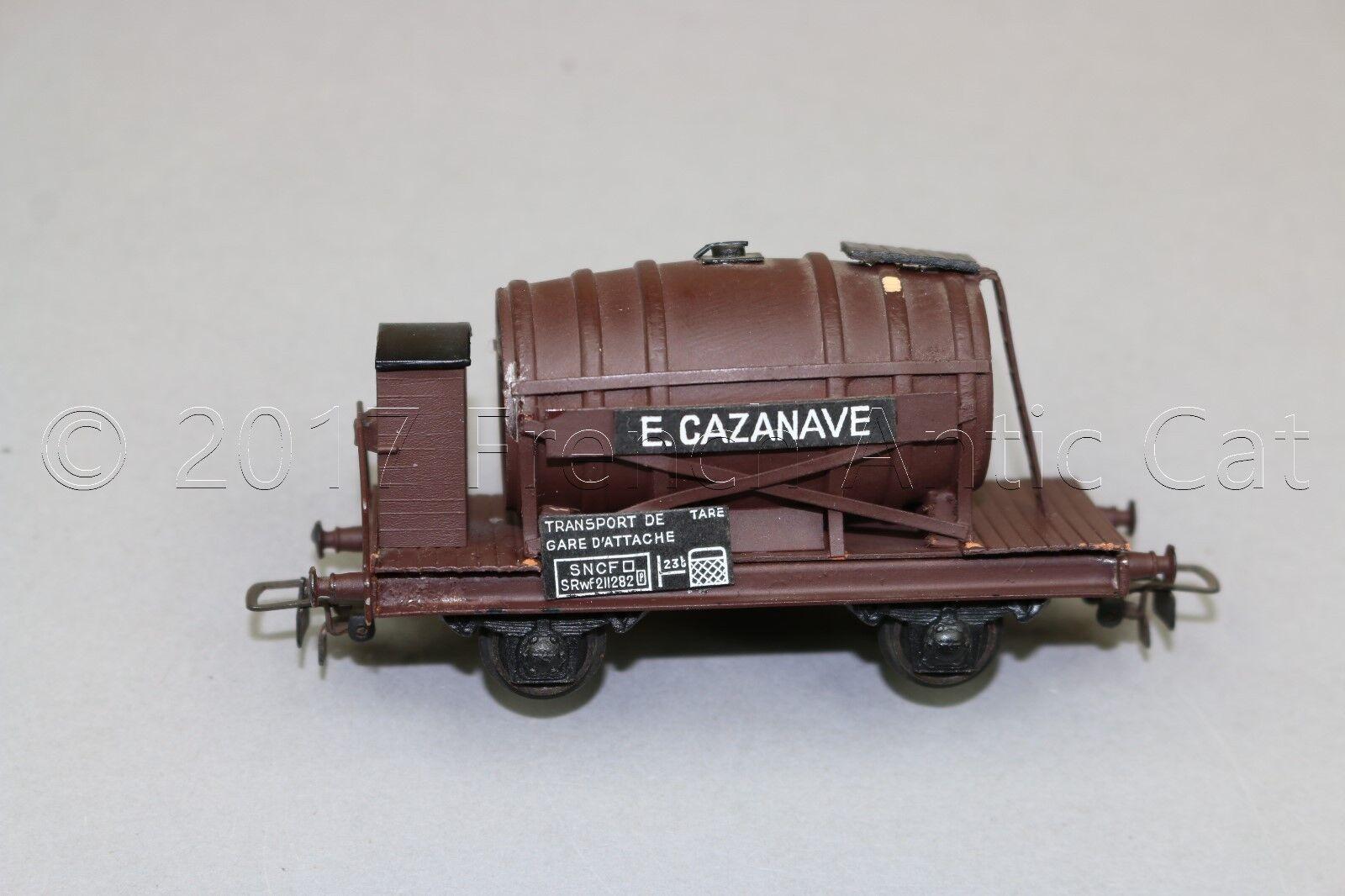 Y469 VB train Ho wagon SNCF mono foudre E Cazane metal Presspahn pas de marquage