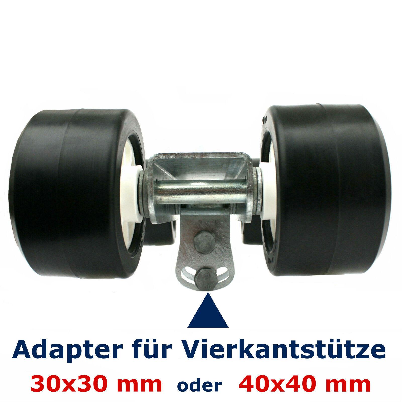 ⚓ 4er-Slipwagen inkl. Adapter 30/40 mm (Rollen Sliphilfe Ø100xB60) | Sliphilfe (Rollen Sliprolle 6f0415