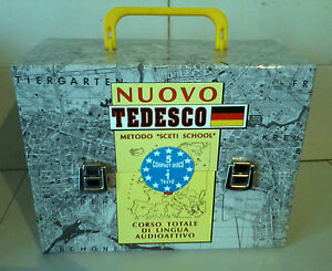 Corso-Totale-di-Lingua-TEDESCO-Audioattivo-metodo-034-Sceti-School-034-5CD-Libro-NEW