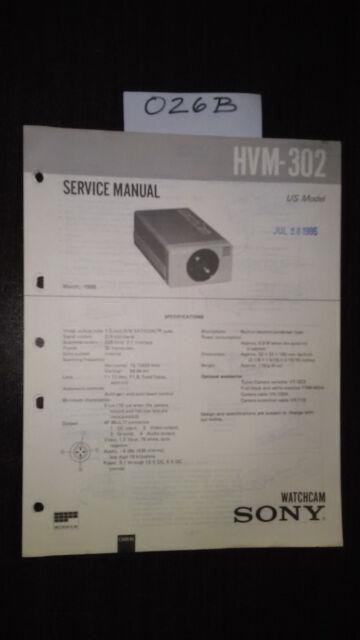 Sony hvm-302 service manual original repair book watchcam camera