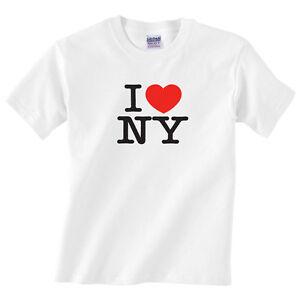 Children-039-s-I-Love-New-York-T-Shirt-Kids-Boys-or-girls-I-heart-NY-tee