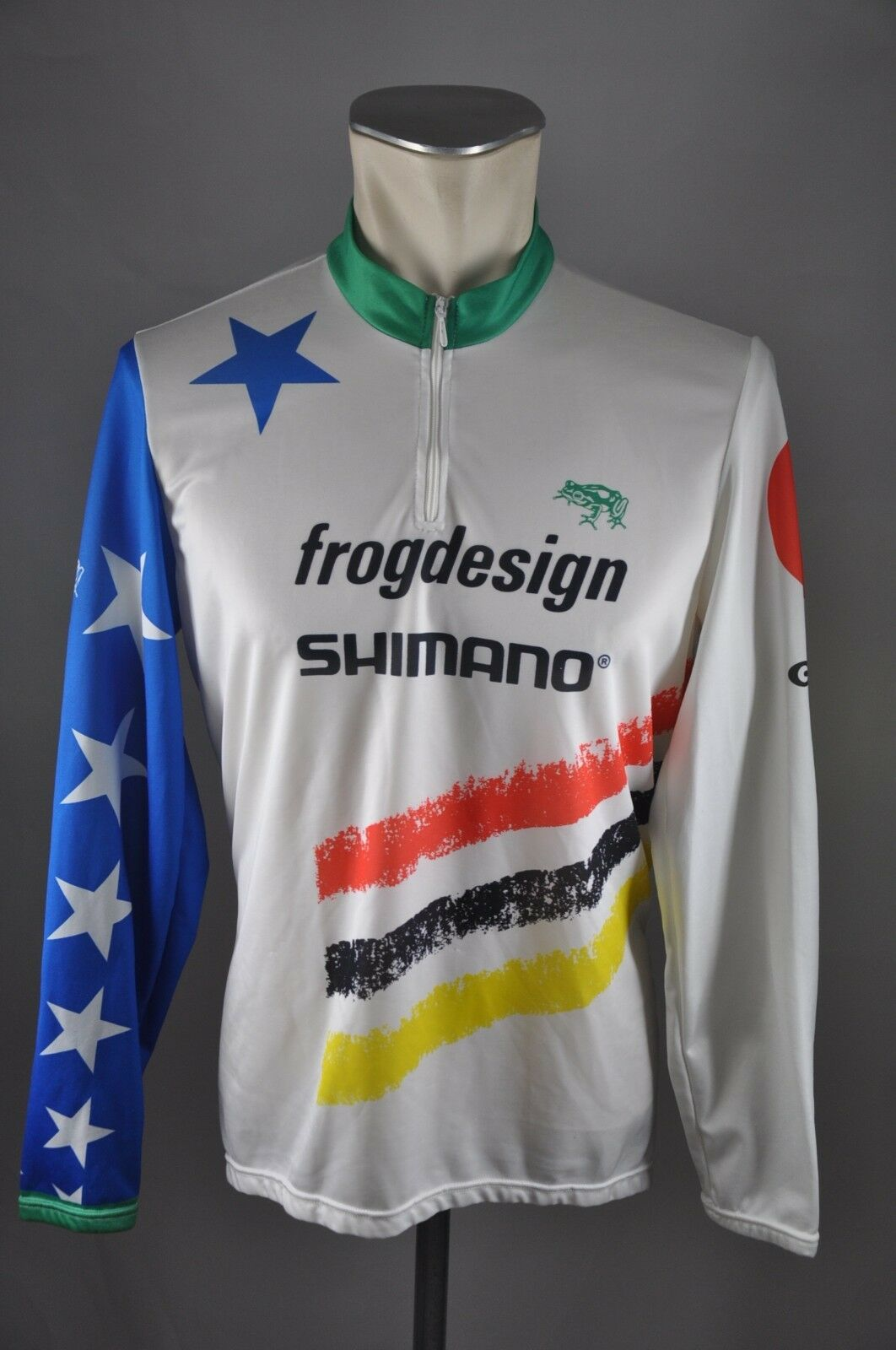 Frogdesign Team 55cm 90s Gonso CYCLING JERSEY BIKE Taglia L-BW 55cm Team CYCLING MAGLIA k4 89a029
