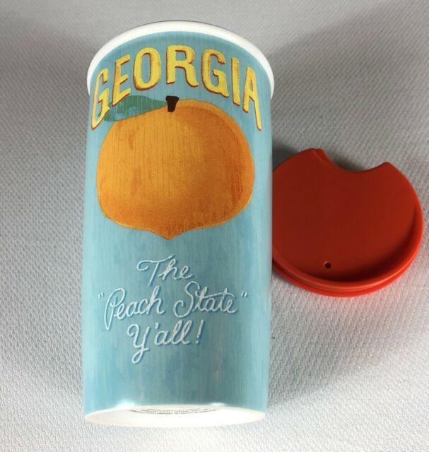 Starbucks Coffee Tumbler Georgia The Peach State Y'all Mug 12oz Travel 2016 Cup