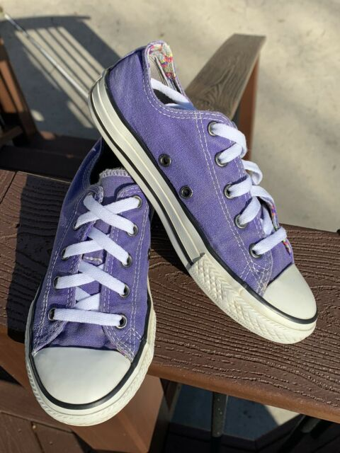 Converse Chuck Taylor All Star Purple Low Top Junior 1 Double Tongue