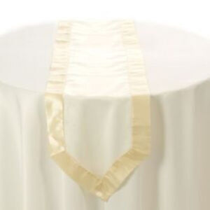 Ivory-Organza-Table-Runner-with-Satin-Edging-Parties-amp-Weddings-New-amp-Sealed